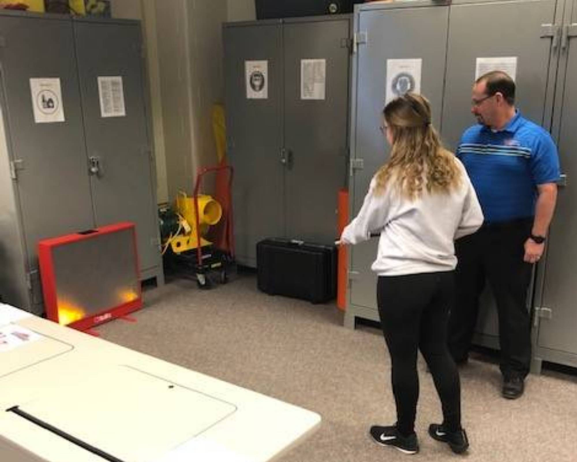 Fire Extinguisher Training in OSH Lab
